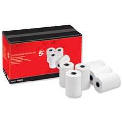 5 Star Office Thermal Printer Rolls 55gsm W57xD55xCore12.7mm 38m [Pack 20]