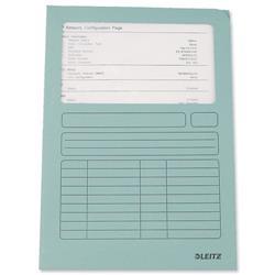 Leitz Window Folder 160gsm A4 Light Blue [Pack 100] - 3950-00-30