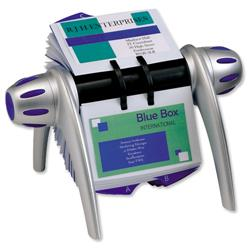 Durable Silver Visifix Flip Rotary File with 200 Pockets for 400 Business Cards Ref 2417/23