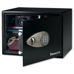 Sentry X125 Security Safe Electronic Lock 4mm Door 2mm Walls 13kg 33.3 Litre W430xD370xH270mm Ref X125