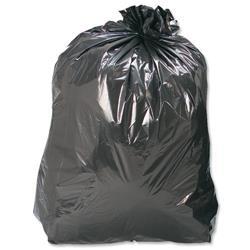 5 Star Facilities Refuse Sacks Recycled 120 Gauge 110 Litre Capacity Black [Box 200]
