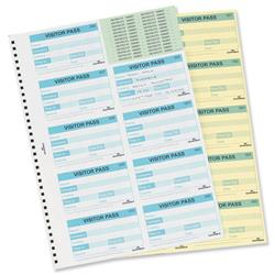Image of Durable Visitors Book Refill of 100 60x90mm Badge