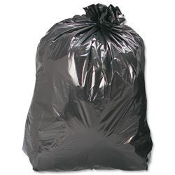 5 Star Facilities Bin Bags Medium Duty 110 Litre Capacity Black [Pack 200]