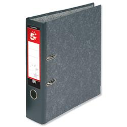 5 Star Office Lever Arch File 70mm A4 Cloudy Grey - Pack 10