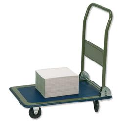 5 Star Facilities Platform Truck Medium-duty Capacity 150kg Baseboard W475xL735mm Blue and Grey