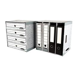 Bankers Box by Fellowes System File Store W380xD280xH90mm Ref 01840 [Pack 5]