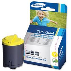 Samsung CLP-Y300A Yellow Laser Toner Cartridge for CLP-300 Series Printer Ref CLP-Y300A-ELS