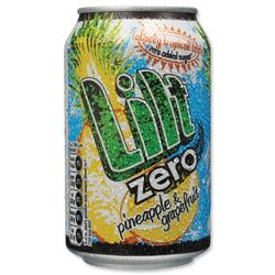 Lilt Zero Diet Soft Drink Can 330ml Ref CCE [Pack 24]