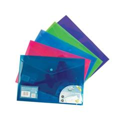Concord Stud Wallet File Vibrant Polyplus with Gusset A4 Assorted Ref 7091-PFL [Pack 5]
