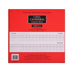 Collins Cathedral Analysis Book 150 Series 12 Cash Column 96 Pages 297x315mm Ref 150/12.1
