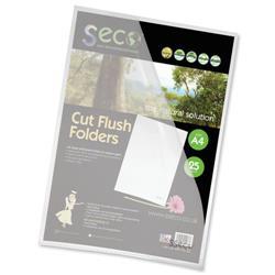 SSeco Oxo-Bio Cut Flush Folder A4 Clear Ref LSF-25 - Pack 25