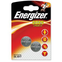 Energizer CR2025 Lithium Battery for Small Electronics 5003LC 163mAh 3V Ref 626981 - Pack 2