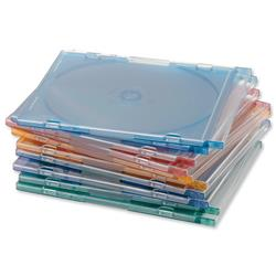 CD Case Slimline Jewel for 1 Disk W125xD5xH124mm Assorted - Pack 100