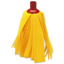 Cloth Mop Head Refill Thick Absorbent Strands Red and Rainbow