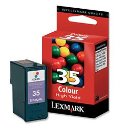 Lexmark No. 35 Inkjet Cartridge High Yield Page Life 450pp Colour Ref 18C0035E