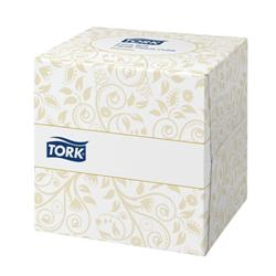 Tork Facial Tissues Cube 2 ply 100 Sheets White Ref 140278 [Pack 30]