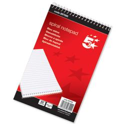 5 Star Office Spiral Notepad Headbound Ruled 160 Pages 125x200mm [Pack 10]