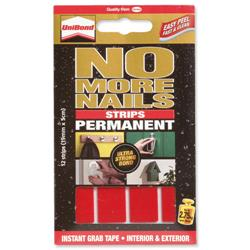 Unibond No More Nails Permanent Translucent Strips Ref 781740 - Pack 12
