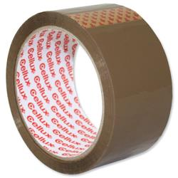 Sellotape Cellux Tape Economy General Purpose 48mmx50m Buff Ref 0550 - Pack 6