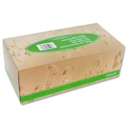 Papura Facial Tissues from Sugar Cane minus Chlorine Bleach 3 Ply 100 Sheets Ref 1512
