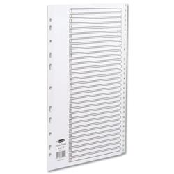 Concord A4 1-31 Europunched White Polypropylene Indexes Ref 64501