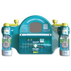 Wallace Cameron Emergency Eyewash Station Mirror 8x Eyepods 2x Eyepads 2x Eyewash Large Ref 2402056
