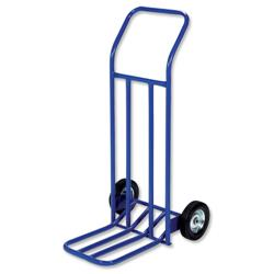 RelX Hand Trolley General Capacity 160kg Wheel 205mm Foot Size W565xL640mm Blue Ref HT1585 - 287998