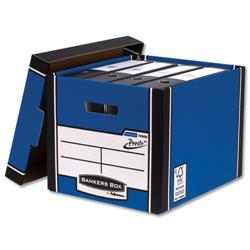 Bankers Box by Fellowes Premium 726 Archive Storage Box Blue and White Ref 7260602 [Pack 10] + £20 Cashback