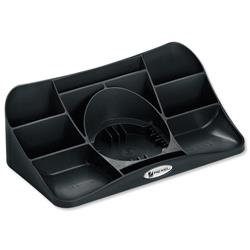 Rexel Agenda2 Charcoal Desk Tidy (W286xD153xH92mm) Ref 2101028