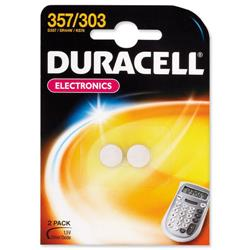 Duracell Battery Silver Oxide for Calculator or Pager 1.5V Ref D357 - Pack 2