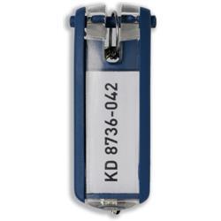 Durable Key Clip Dark Blue Ref 1957-07 - Pack 6