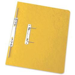 Elba Boston Spiral Transfer Spring File 320gsm Foolscap Yellow Ref 100090037 [Pack 25]