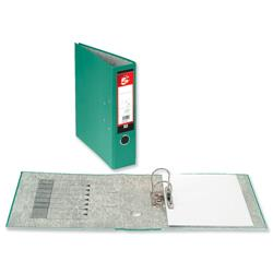 5 Star Office Lever Arch File 70mm Spine Foolscap Green [Pack 10]