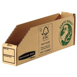 Bankers Box by Fellowes Parts Bin Corrugated Fibreboard Packed Flat 51x280x102mm Ref 07351 - Pack 50