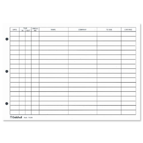 Visitor Book Template Childminder Visitors Log Book Childminding