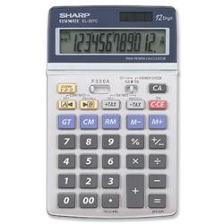 Sharp Calculator Tax Euro Desktop Tax Battery/Solar-power 12 Digit 108x175x22mm Ref EL337C