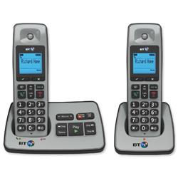 BT 2500 Twin Handset DECT Telephone Cordless Answering Machine - 66059