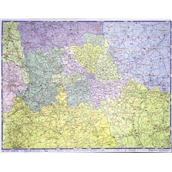 Map Marketing Postal Districts of London Map 910x1170mm Ref GLPC