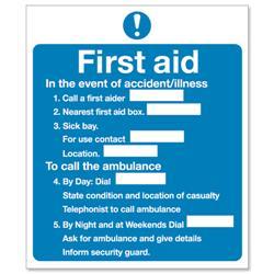 Stewart Superior Sign First Aid Sign W230xH195mm Self-adhesive Vinyl Ref KS006SAV