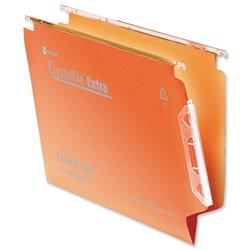 Rexel Crystalfile Classic Lateral File Manilla 330mm V-base Orange Ref 70671 - Pack 50