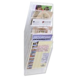 Durable Flexiboxx Literature Holder Wall-mountable 6 Pockets Portrait A4 Clear Ref 1709760400