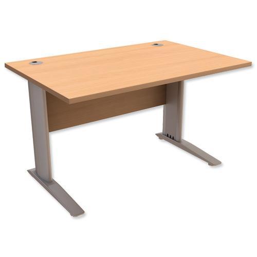Sonix Premier Cantilever Desk Rectangular W1600xD800xH725mm Beech