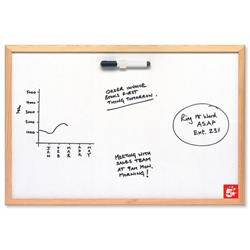 5 Star Office Economy Drywipe Board Lightweight W600xH400mm