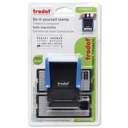Trodat 4912 Printy Typo D-I-Y Stamp Kits Ink Tweezers and Lettering 3mm 4mm 4 Line Ref 43197