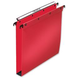 Elba Ultimate Suspension File Polypropylene 30mm Foolscap Red Ref 100330374 - Pack 25