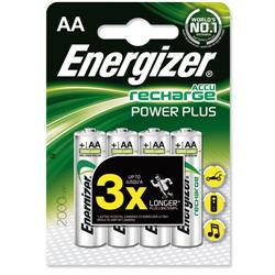 Energizer Battery Rechargeable NiMH Capacity 2000mAh HR6 1.2V AA Ref E300626700 [Pack 4]