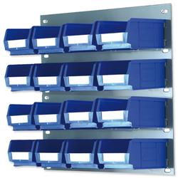 Louvred Panel W457xH438mm and 16 x Container Bins W165xD100xH75mm