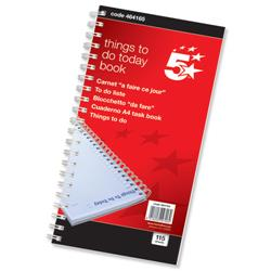 5 Star Office Things To Do Today Book Wirebound 6 Months 115 Pages 280x140mm