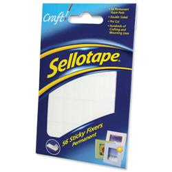 Sellotape Sticky Fixers Double-sided 12x25mm 56 Pads Ref 1445423 - Pack 12