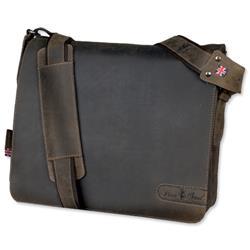 Pride & Soul Ben Shoulder Bag Laptop Leather Brown Ref 47138